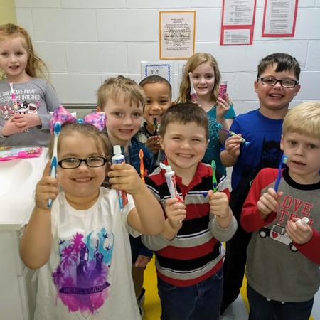 March Dental Health Month Preschool Group