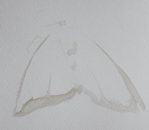 Edith Dormandy, 'Moth Large: VII', 2018, watercolour on paper, 49x35cm