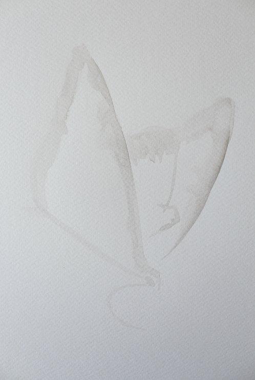 Edith Dormandy, 'Moth Medium: IV', 2018, watercolour on paper, 38x28cm