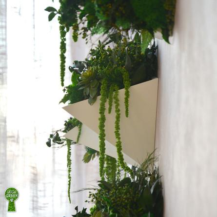 Геометрические подвесные кашпо из бетона