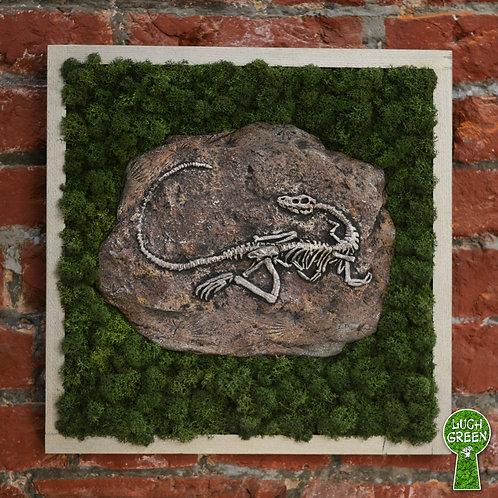 """Картина """"Древняя окаменелость"""". Бетон. Мох. 42 х 42 см"""