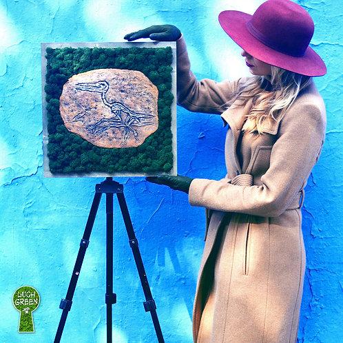 """Картина """"Слепок окаменелости Скафогната  во мхе"""" 42х42см"""