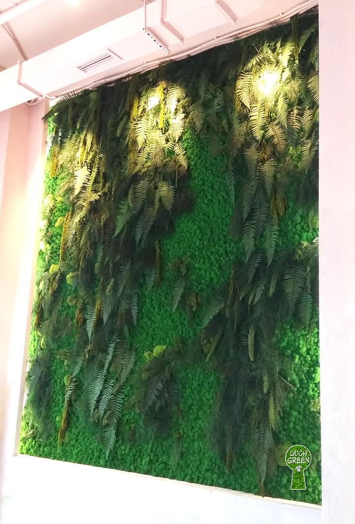 Панно из стабилизированных мха и растений