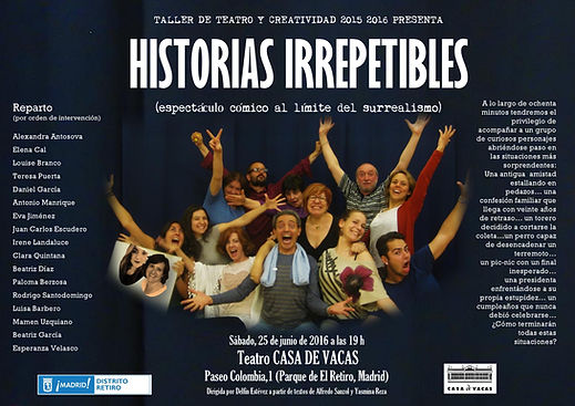 CARTEL HISTORIAS IRREPETIBLES 25 DE JUNI