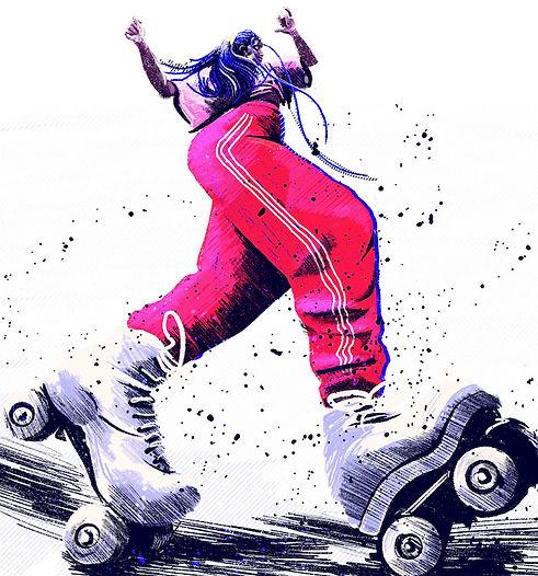 Skater girl Oumi Janta