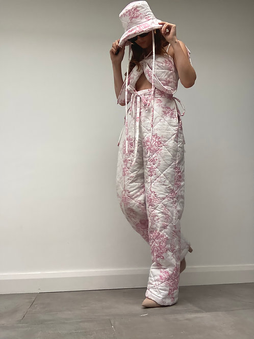 Floral Quilted Bedding Trousers