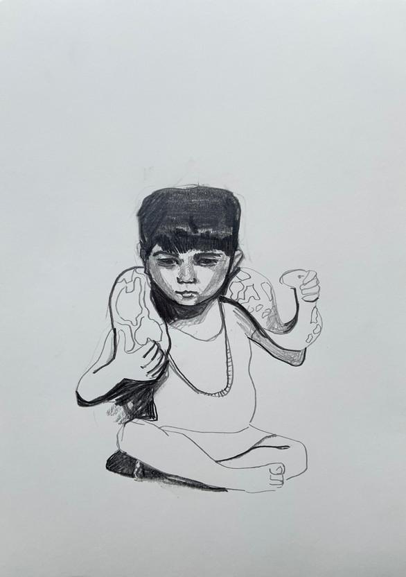 Pencil on paper 30 x 21cm 2020