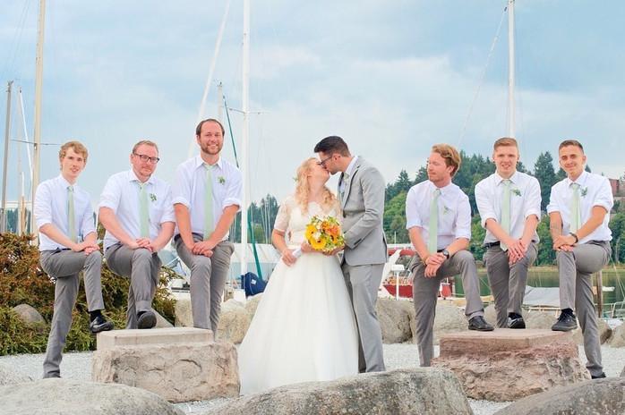Bride & All the Grooms Men