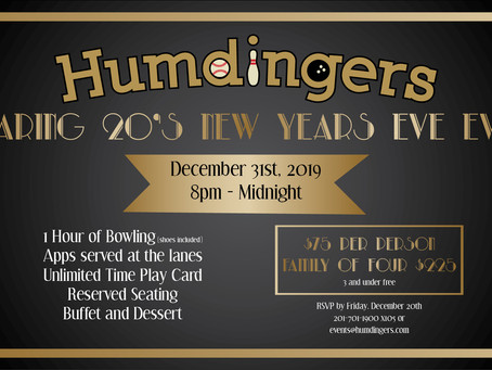 Humdingers Roaring 20's New Years Eve Event!