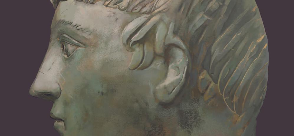 Marble Head Illustration