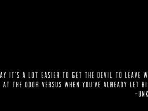 I Let the Devil In