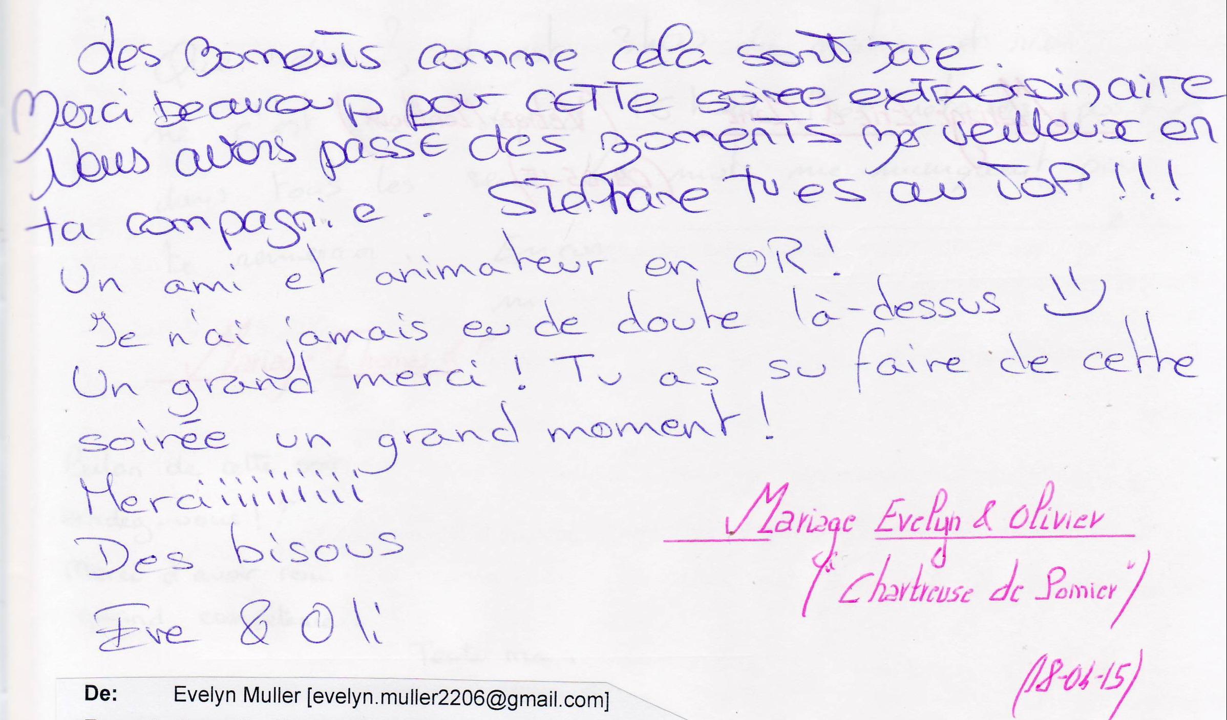 Mariage PENSIS Olivier & Evelyn (Chartreuse de Pomier) (18-04-2016)