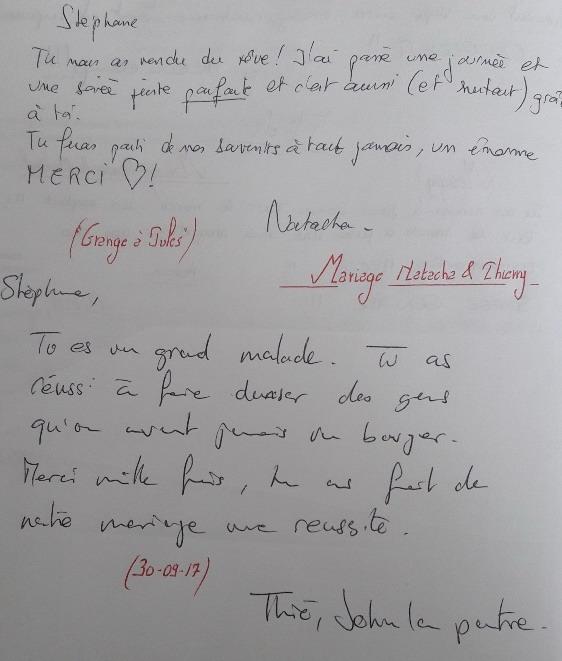 Mariage Natacha & Thierry 30.09.2017