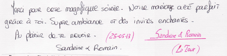 Mariage DUFOURD Romain & Sandrine (La Tour) (25-05-2013)
