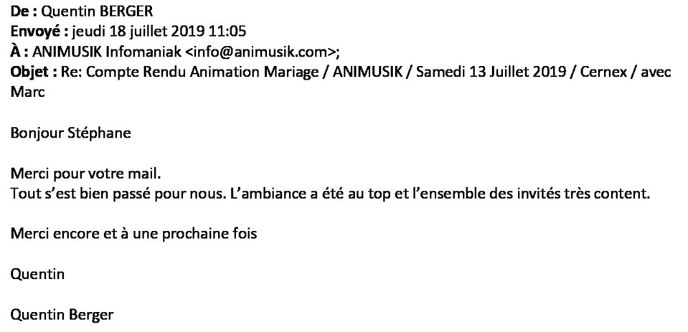 mariage à Cernex avec Animusik Juillet 2019