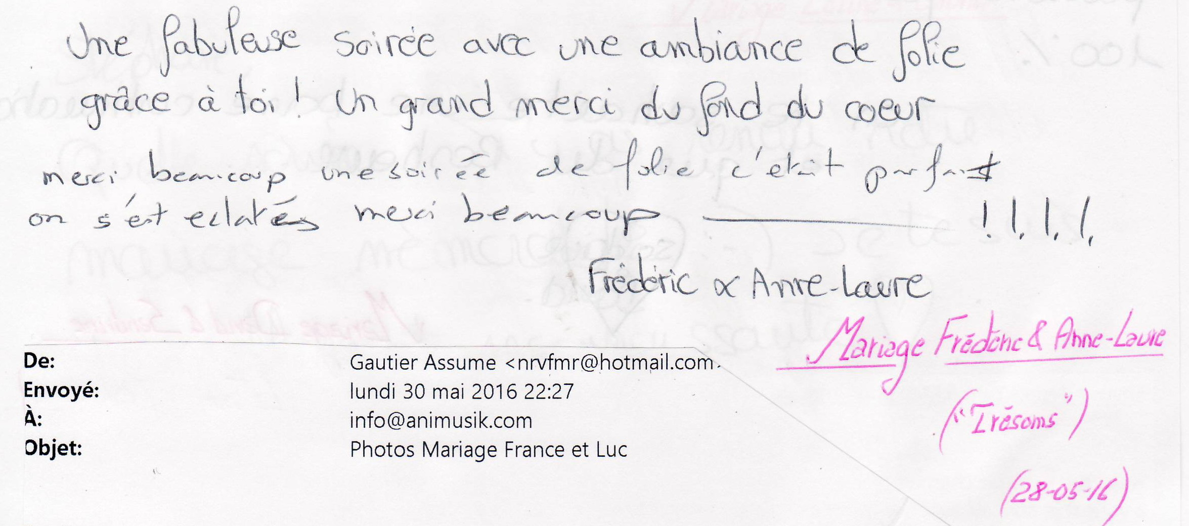 Mariage MERMIER Frédéric & Anne-laure (Trésoms) (28-05-2016)