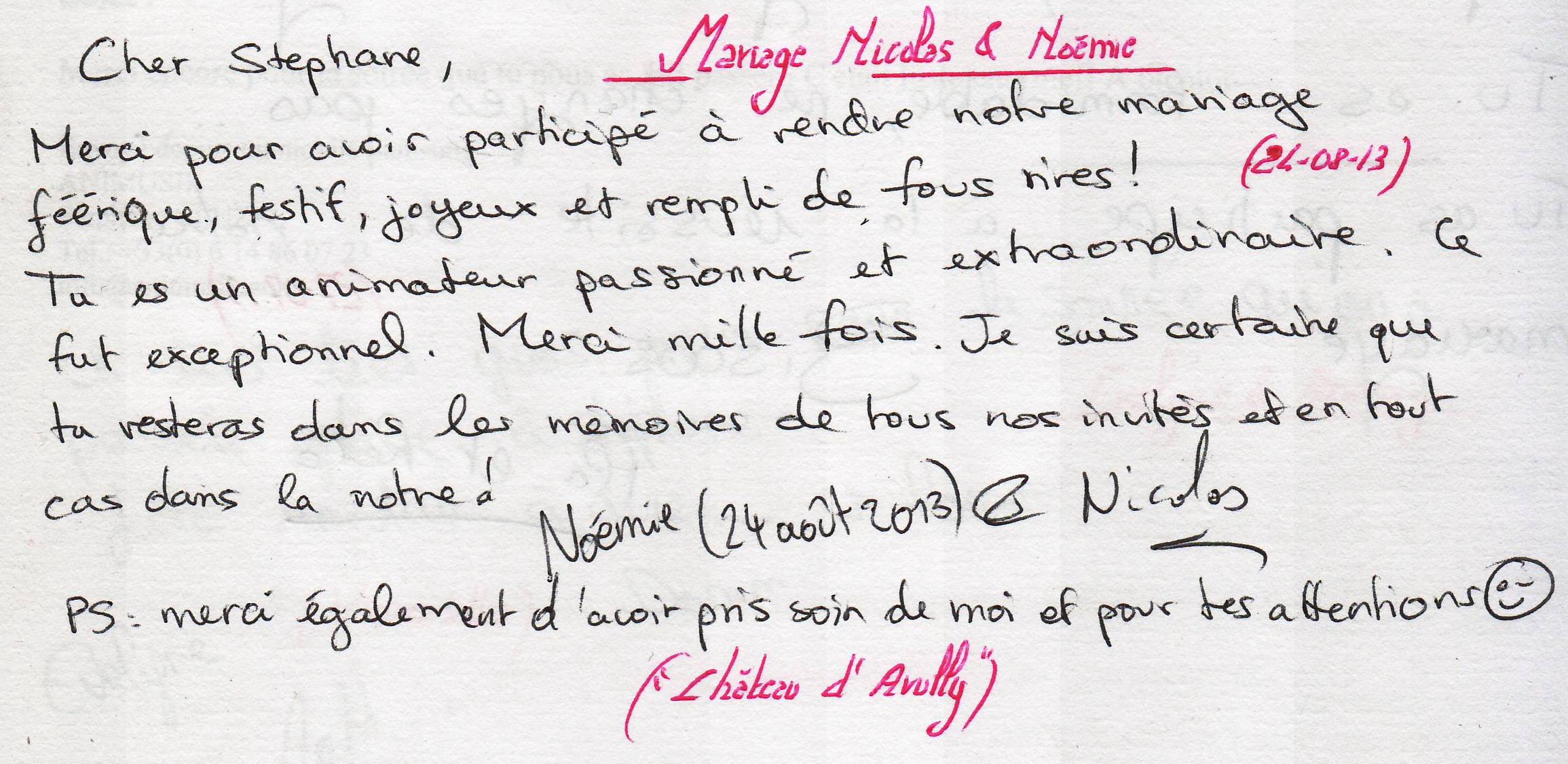 Mariage LUDWIG Nicolas & Noémie (Château d'Avully) (24-08-2013)