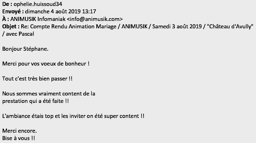 animation mariage à Avully avec Animusik Août 2019