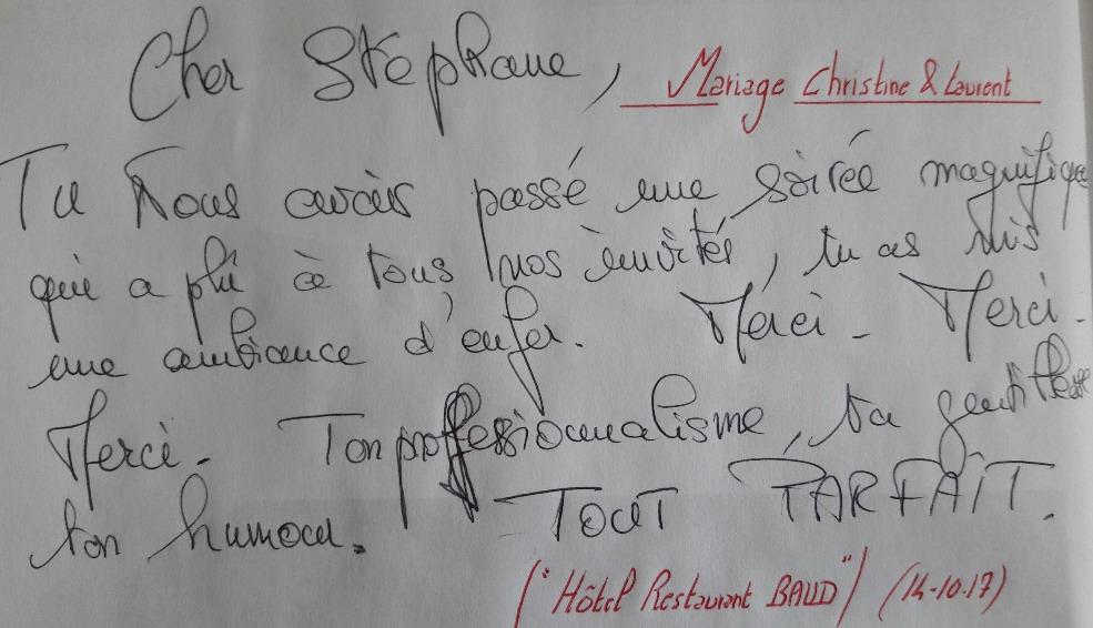 Mariage Christine & Laurent 14.10.17