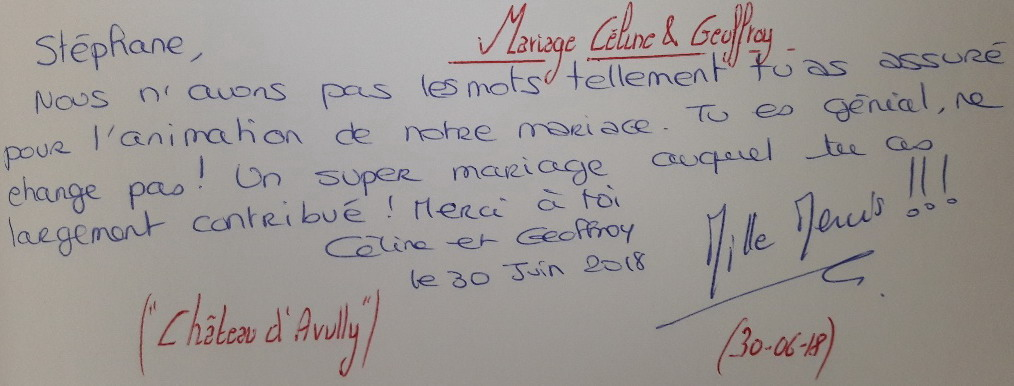 Mariage Céline & Geoffroy 30.06.2018