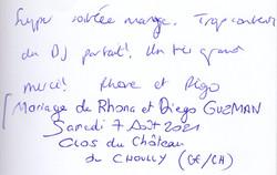 Mariage de RHONA & DIEGO GUZMAN au Clos du château de CHOUILLY Samedi 7 Août 2021