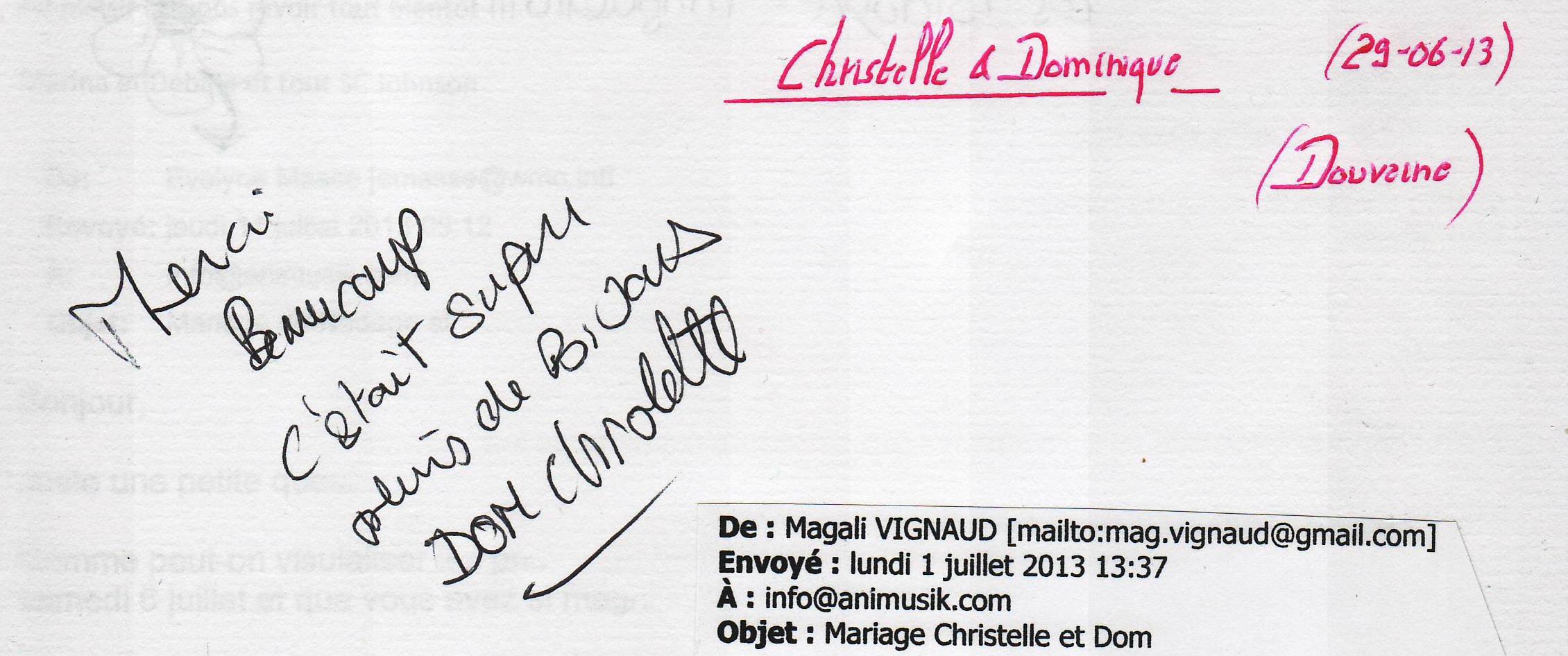 Mariage MANCARI Dominique & Christelle (Douvaine) (29-06-2013)