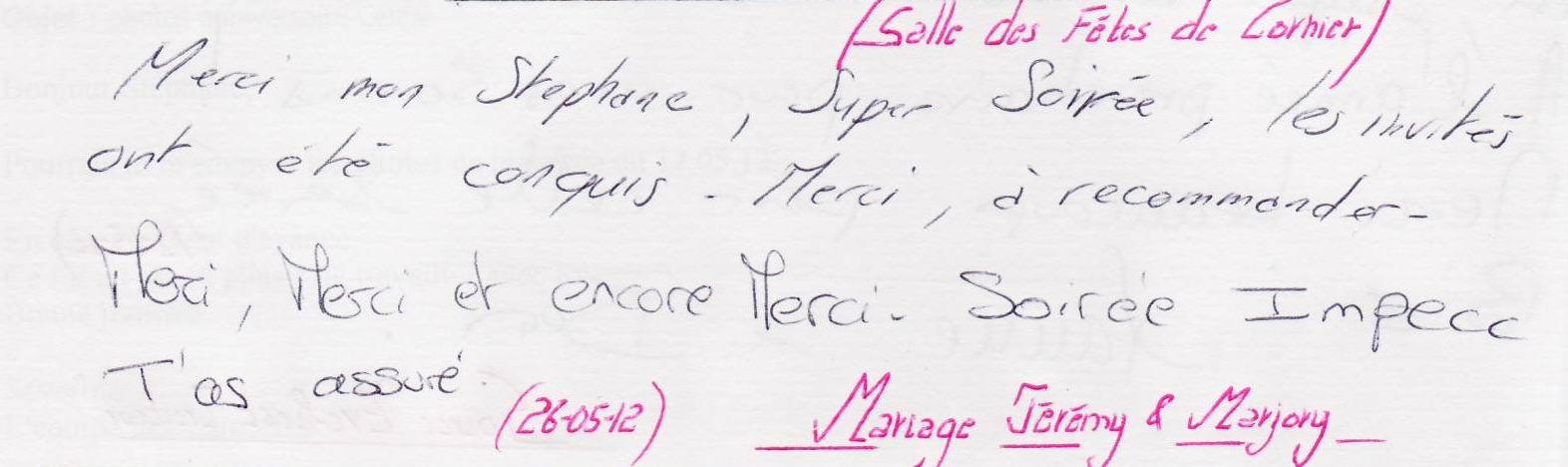 Mariage CORNIER (26-05-2012)