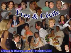 Mariage Yves & Cécile (Château de Divonne) (01-10-2005)