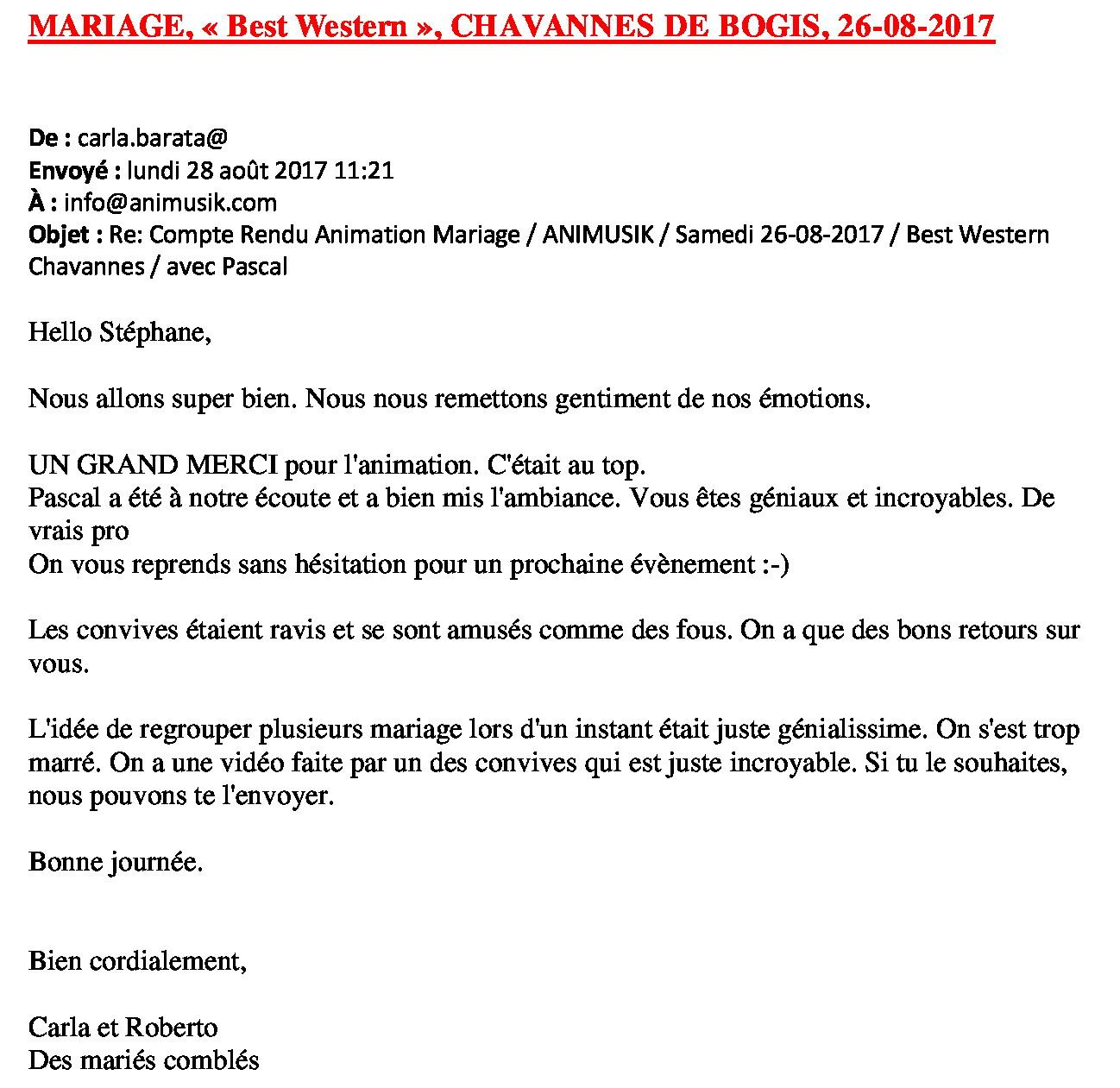 Mariage Carla & Roberto 26.08.2017
