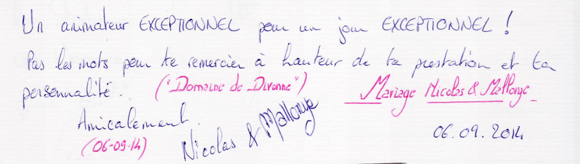 Mariage FOLLET Nicolas & Mallorye (Domaine de Divonne) (06-09-2014)