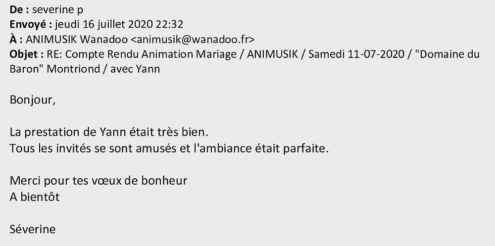 mariage à Montriond avec Animusik Juillet 2020