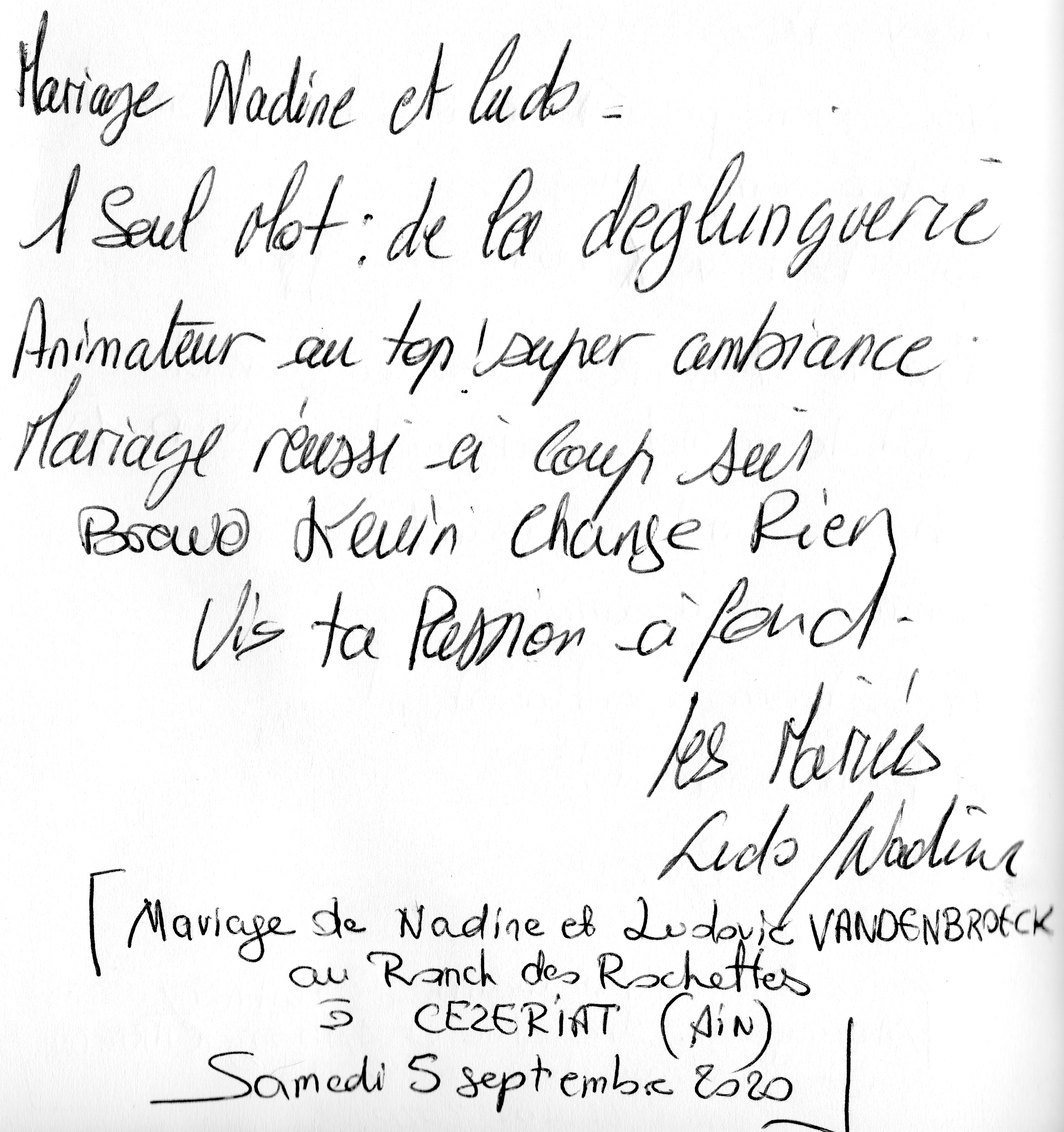 Mariage de Nadine & Ludovic VANDENBROECK