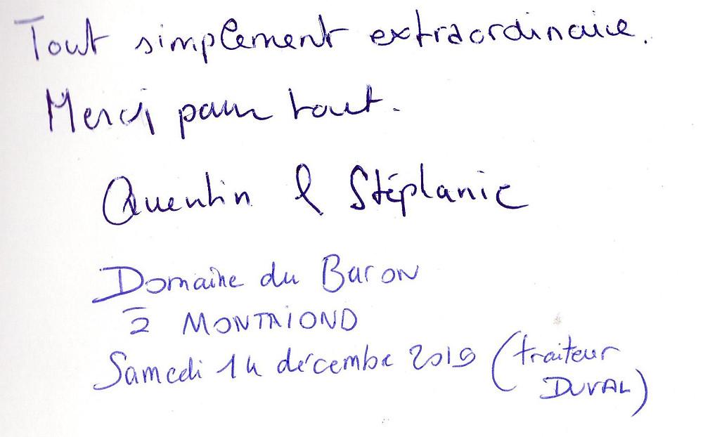 mariage à Montriond avec Animusik Décembre 2019
