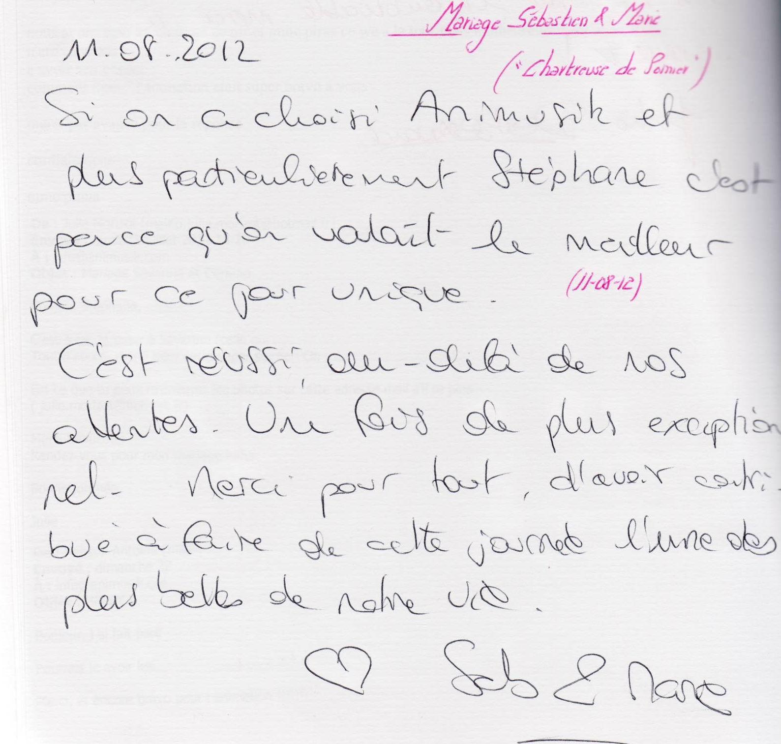 Mariage PAPADOPOULOS Sabastien & Marie (Chartreuse de Pomier) (11-08-2012)
