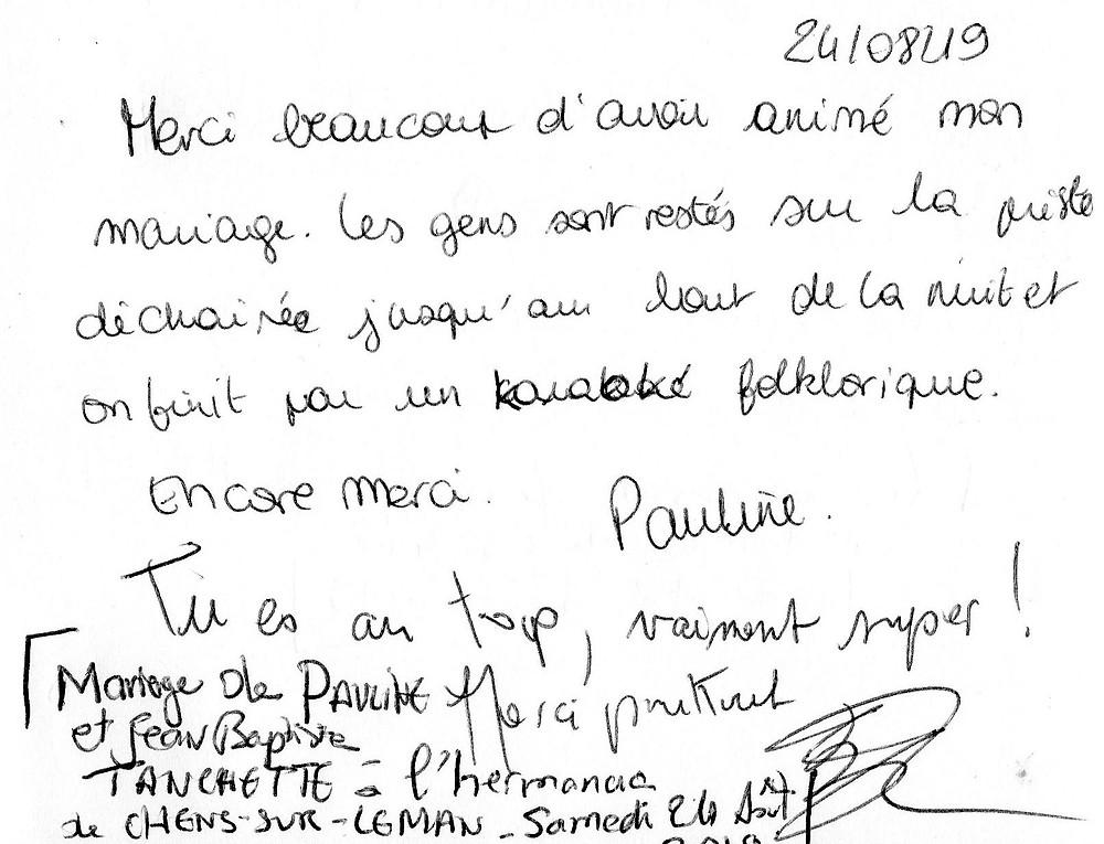 mariage à Chens-sur-Léman avec Animusik Août 2019