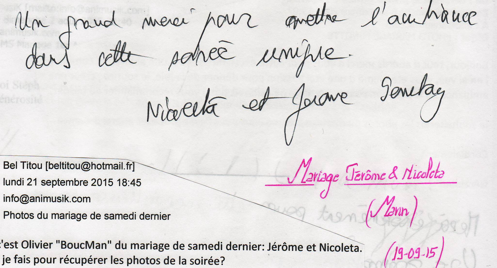 Mariage GENETAY Jérôme & Nicoleta (Marin) (19-09-2015)
