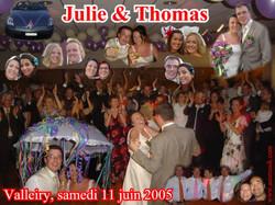 Mariage Thomas & Julie (Espace Albert Fol, Valleiry) (11-06-2005)
