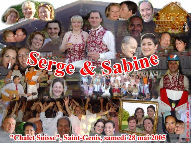 Mariage Serge & Sabine (Chalet Suisse, Saint-Genis) (28-05-2005)
