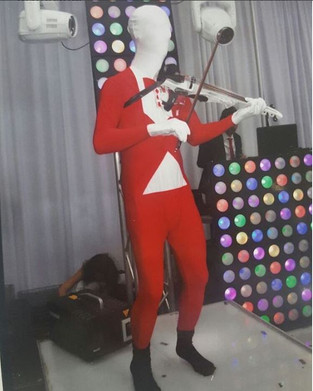 Image of theme based DJ violinist