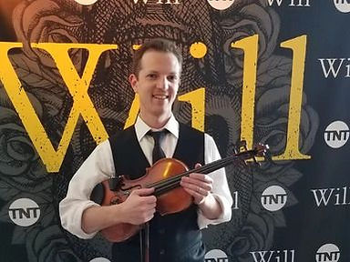 Image of professional electric violinist