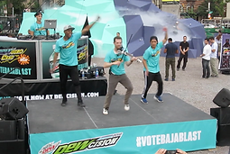 Asher and dance crew performance
