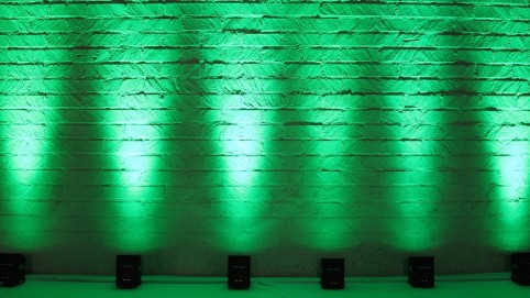 green chauvet uplighting