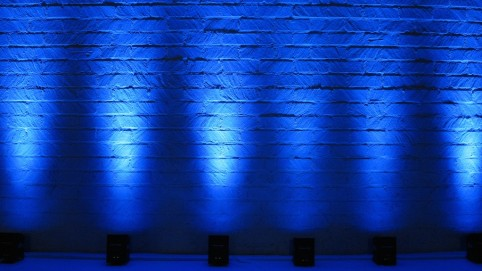 blue chauvet uplighting