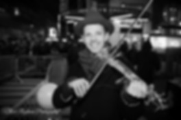 Image of Asher Laub with electric violin