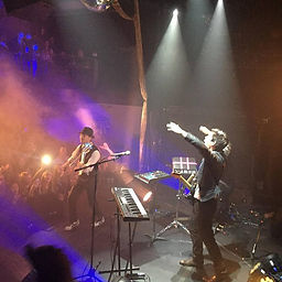 Image of Asher and crew performing live