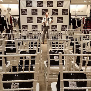 corporate entertainment - fashion show electric violinist