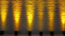 yellow chauvet uplighting
