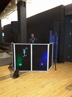 Image of DJ Adrian on set