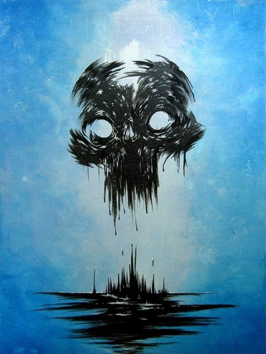 Black Inky Skull