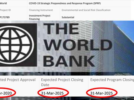 Financiranje Svetovne banke za Covid nateg je podpisano in zagotovljeno do 31. Marca 2025 !!!